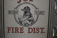 Mural on the back of a Fire Truck