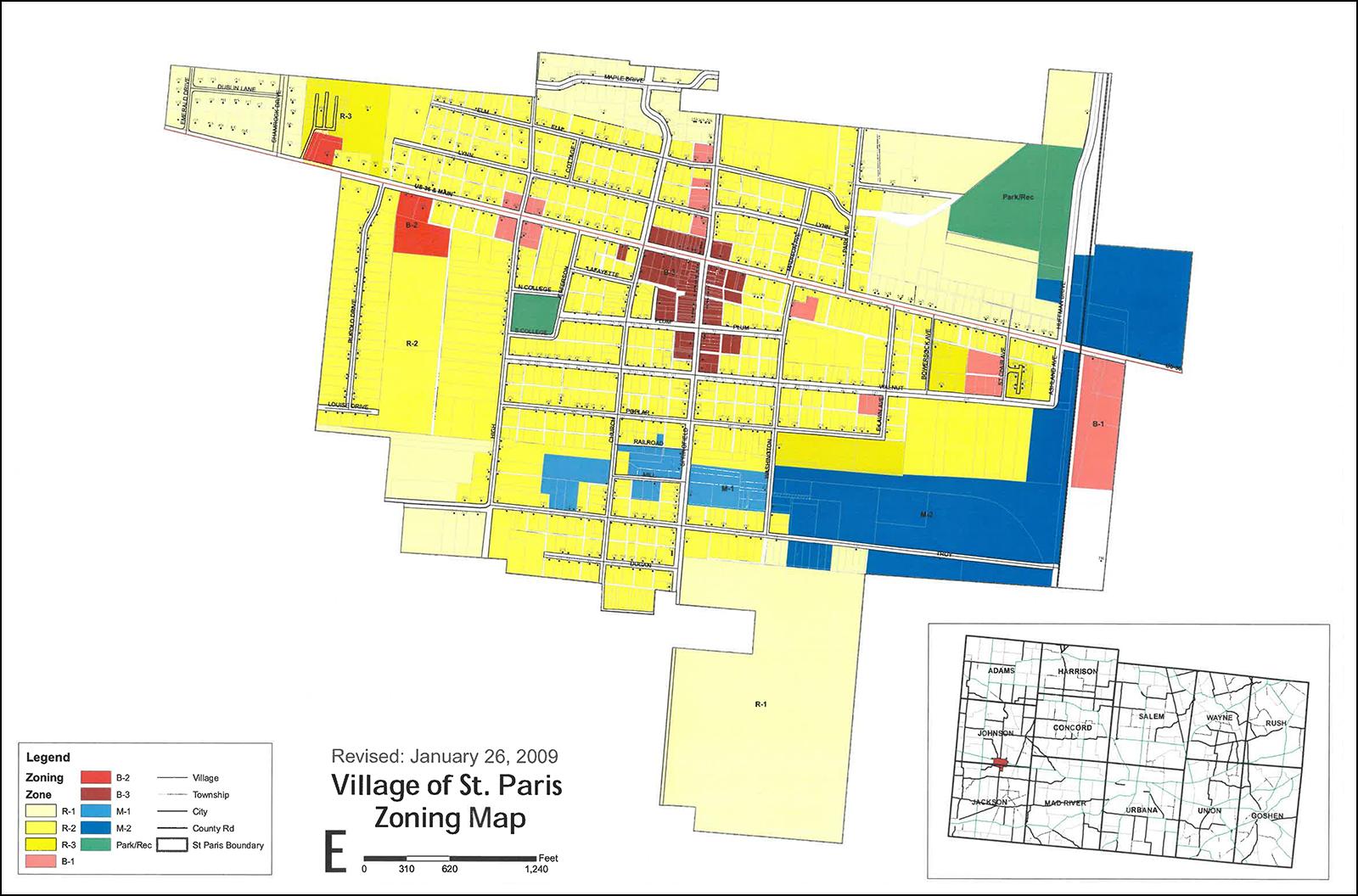 st paris ohio map Planning Zoning St Paris Ohio